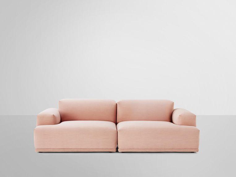 De 'Connect Sofa' van Muuto kan uit verschillende onderdelen opgebouwd worden. Vanaf € 695. edwinpelser.nl Beeld Els Zweerink
