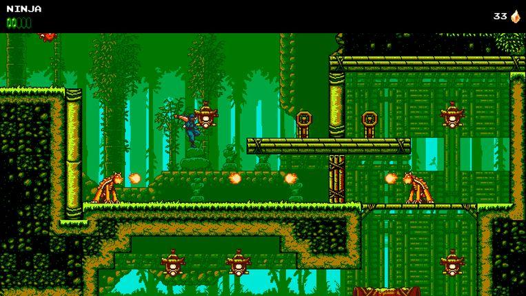 Vergelijk zelf maar. Dit is 'The Messenger' in zijn 8-bit-graphics... Beeld Devolver Digital