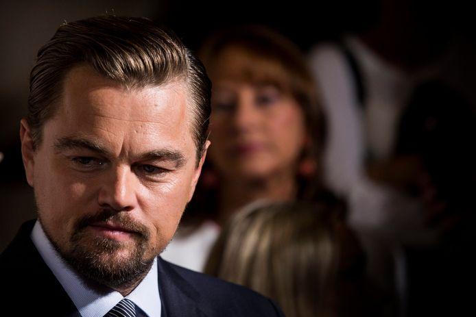 Leonardo DiCaprio bij de première van zijn documentaire Before the Flood in Parijs.
