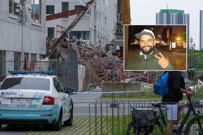 Bij de instorting van de school in aanbouw vielen in totaal vijf doden. (inzet: Carlos Quitério)