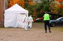 EINDHOVEN - De politie deed vorige week onderzoek op de plek waar Ferdi Mathilda dood werd gevonden.