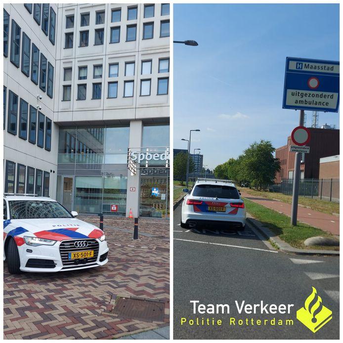 Een spoedtransport van het Erasmus MC naar het Maasstad Ziekenhuis.
