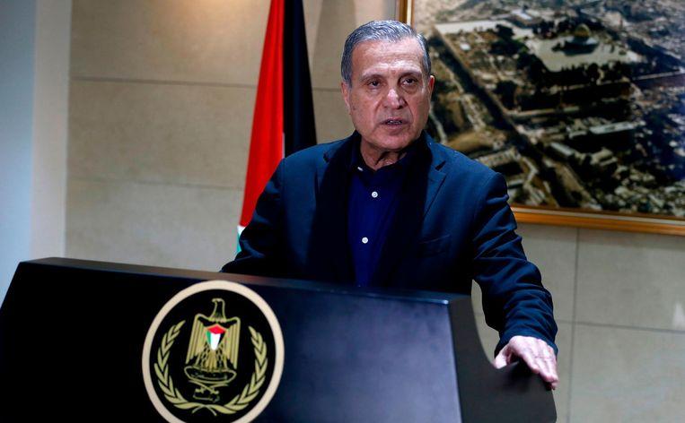 Nabil Abu Rudeinah, woordvoerder van de Palestijnse president. Beeld afp