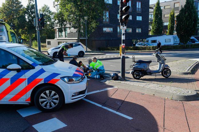 Ongeval aan de Meerhovendreef in Eindhoven.