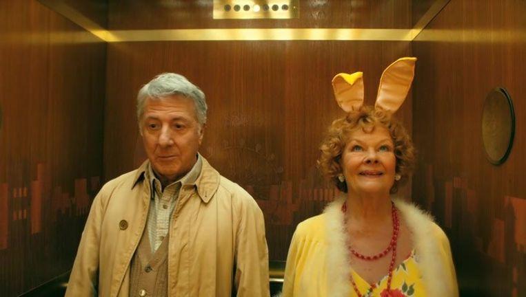 Dustin Hoffman en Judi Dench in 'Roald Dahl's Esio Trot'.