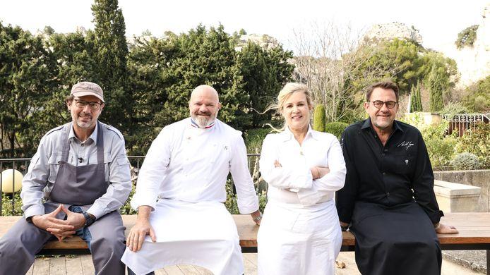 Paul Pairet, Philippe Etchebest, Hélène Darroze en Michel Sarran