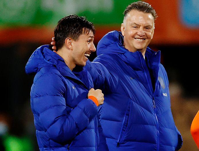 Steven Berghuis en Louis van Gaal.