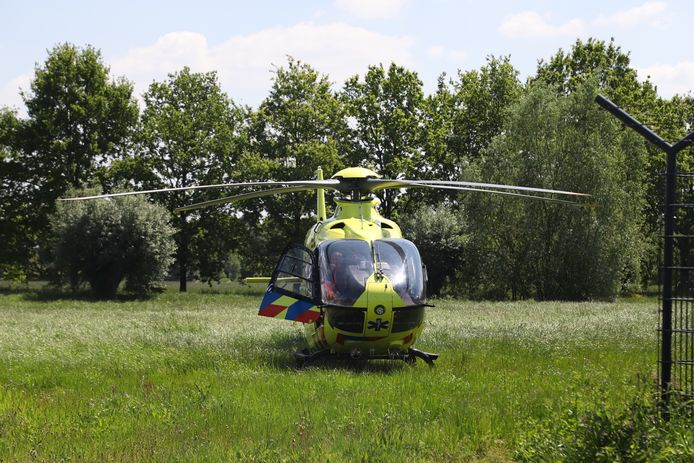 Traumahelikopter is opgeroepen.