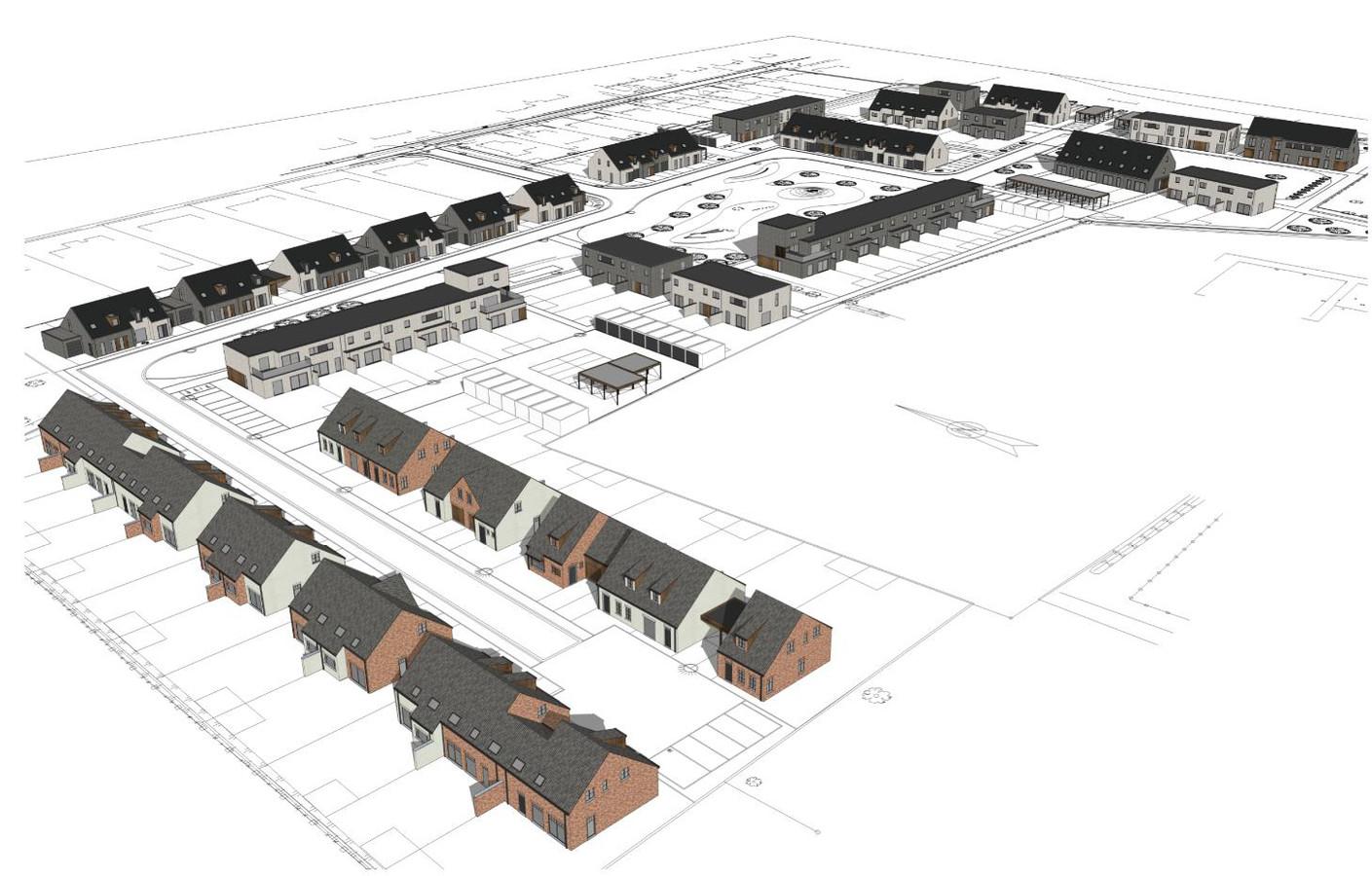 Projectontwikkelaar Danneels plant in totaal honderd woningen.