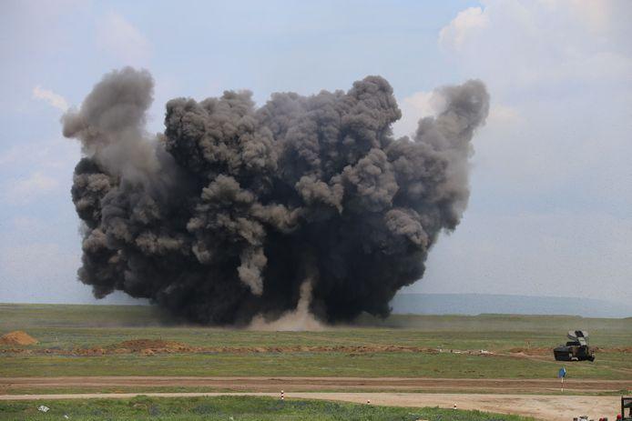 Russische militairen voerden een oefening uit in de Krim.