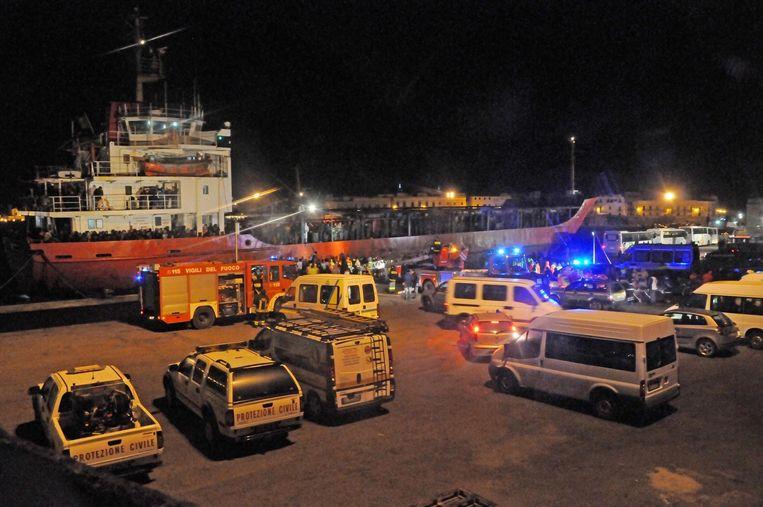 De bemanning werd gearresteerd na aankomst van het schip in de haven.