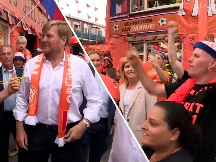 Koning negeerde coronaregels tijdens bezoek aan 'Oranjestraat'