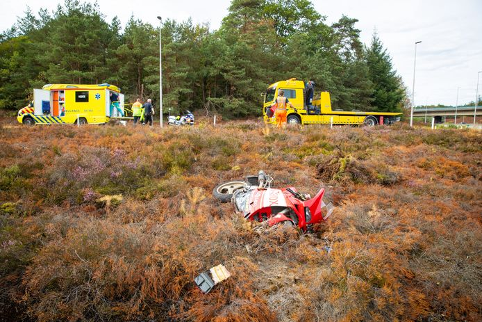 Ongeval op de afrit Heerde-Noord.