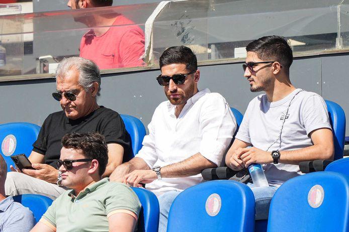 Alireza Jahanbakhsh gisteren als toeschouwer in de Kuip bij Feyenoord - Werder Bremen (2-1).