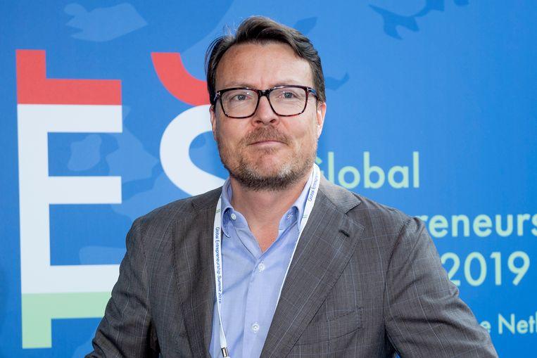 Prins Constantijn bij  de Global Entrepreneurship Summit (GES) in het World Forum.  Beeld EM-Press/Patrick van Emst