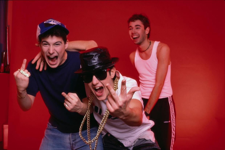 De Beastie Boys van links naar rechts: Ad-Rock, Mike D, and MCA.  Beeld RV