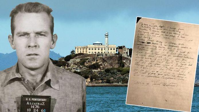 John Anglin en de brief die de FBI vijf jaar geleden mogelijk van hem ontving.