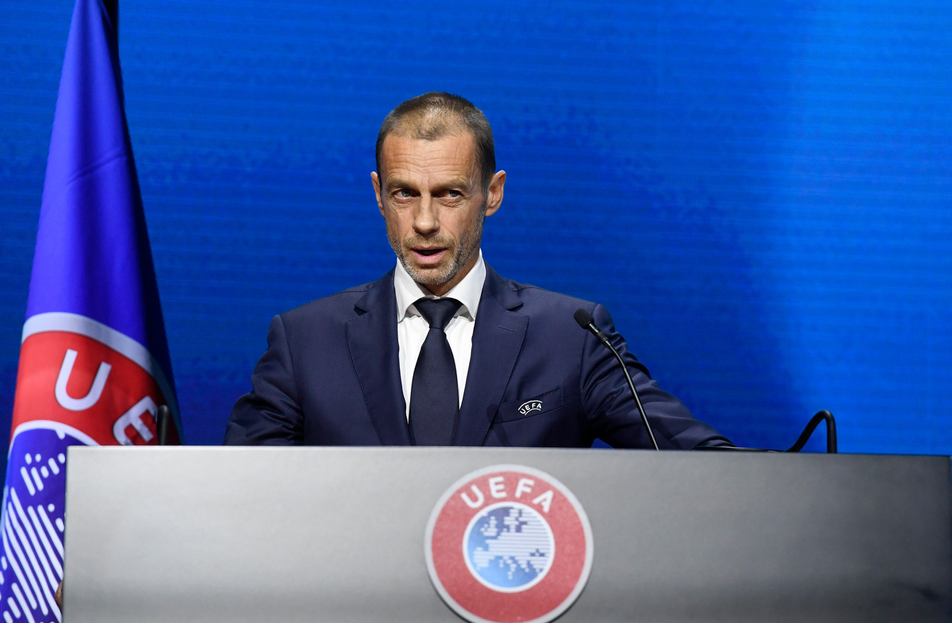 UEFA-voorzitter Aleksandar Ceferin.
