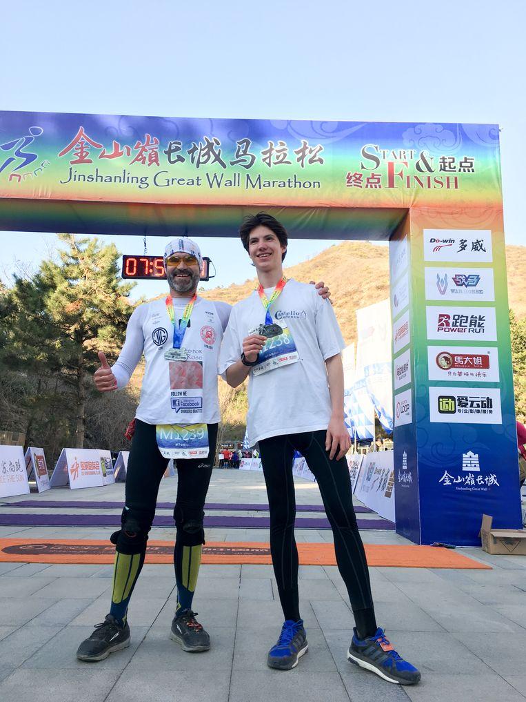 Na de meet: de marathon van de Chinese Muur in 2018.