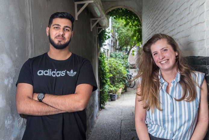 Mikail Hashimi en Mette Blom van Volt.