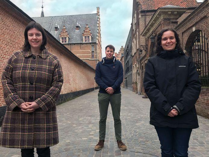 De drie renovatiecoaches van IGEMO: v.l.n.r. Evelien Impens, Joost Crauwels en Lien Berben