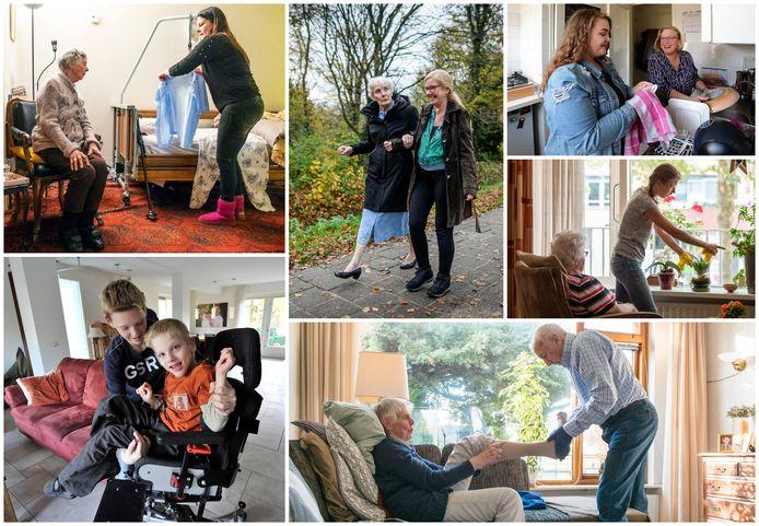 Mantelzorg in beeld. Er zijn vele manieren waarop familie, kennissen of buren hulp bieden die niets kost, maar letterlijk onbetaalbaar is.