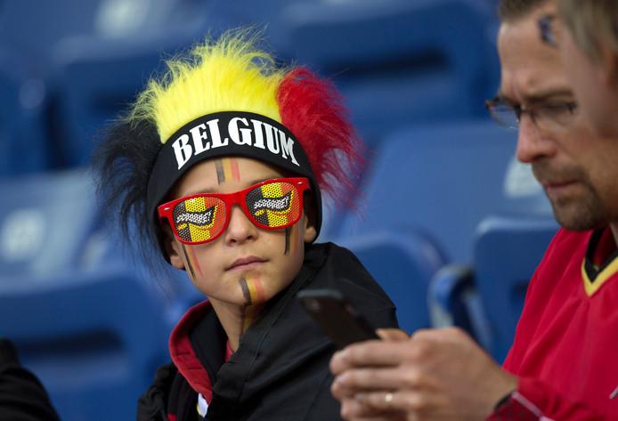 Belgische fans op De Vijverberg. Foto: Theo Kock