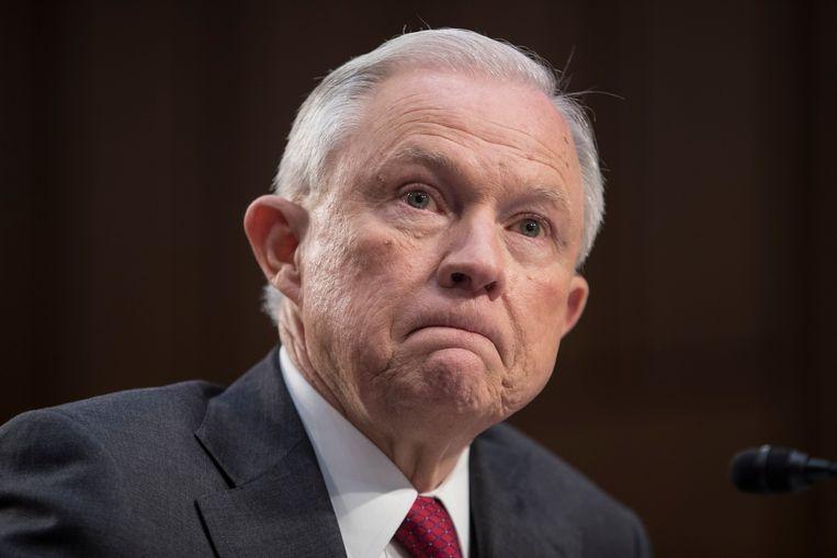 Voormalig Amerikaans minister van Justitie Jeff Sessions. Beeld EPA