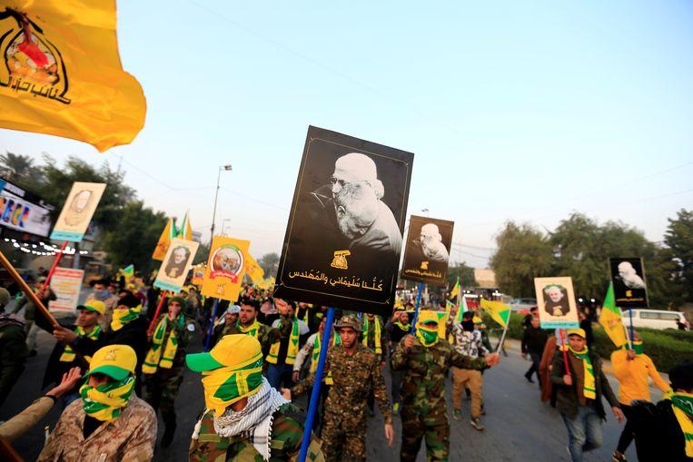 Leden van de Kataib Hezbollah-militie in Irak. Archiefbeeld.  Beeld REUTERS