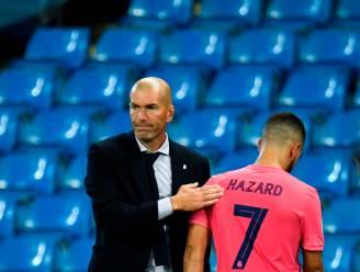 """Zinédine Zidane reageert op de blessure van Eden Hazard: """"Hij heeft het zeer moeilijk, dit is brute pech"""""""