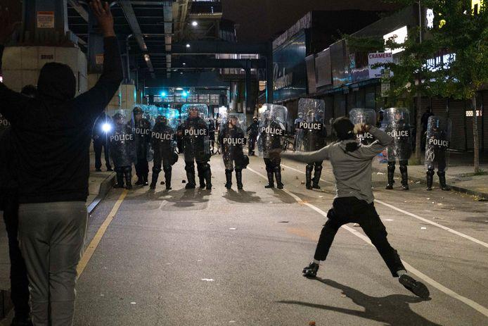 Affrontements avec la police à Philadelphie, le 27 octobre 2020.