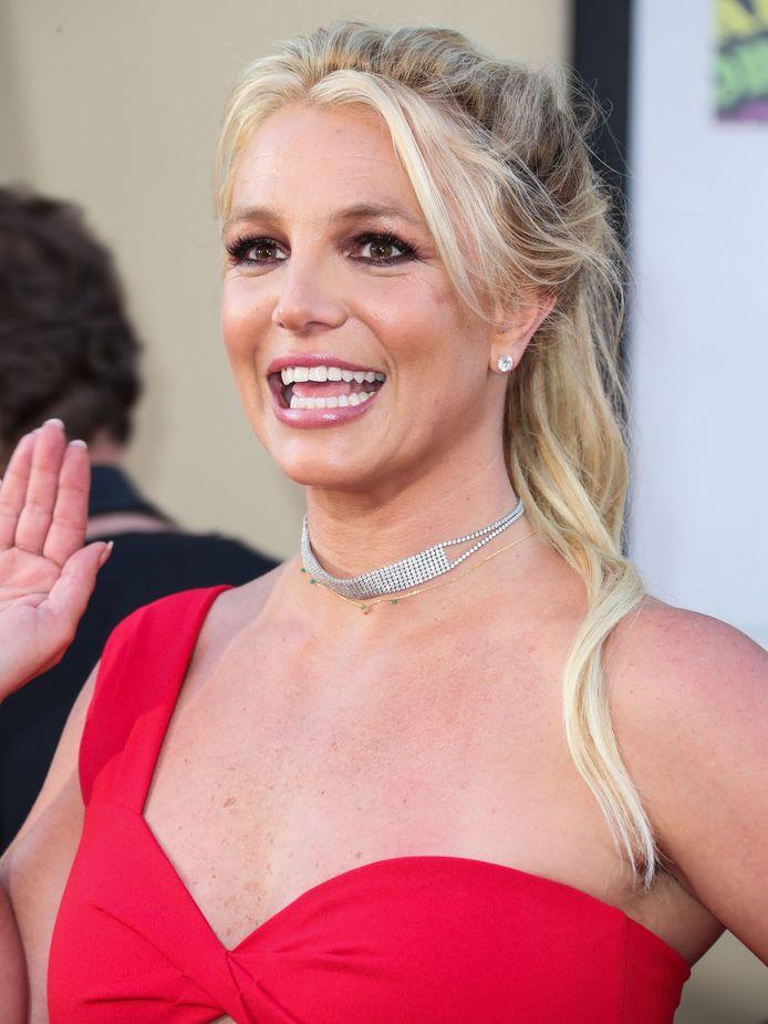 Britney zag er erg blij uit.