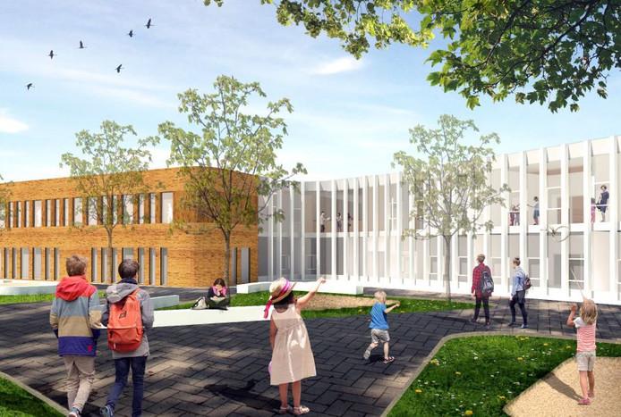 Impressie van de toekomstige Parkschool.