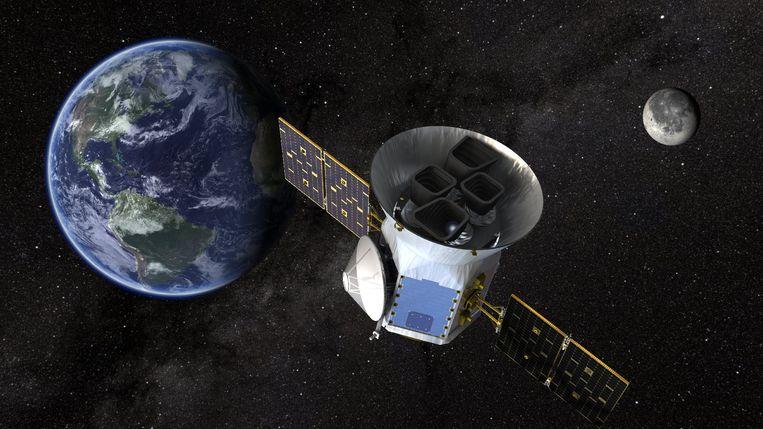 Een satelliet van NASA die op zoek gaat naar leven op andere planeten.  Beeld EPA