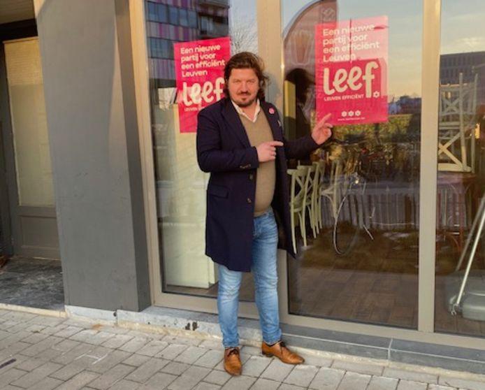 Horeca-ondernemer David Nijs laat een nieuwe wind waaien in het Leuvense politieke landschap.