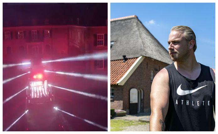 Links: een voorproefje van de show die Radical Redemption (rechts) onlangs gaf op Landgoed Twickel. Het optreden is vrijdagavond 20.00 uur te zien via de sociale media van de uit Denekamp afkomstige dj.