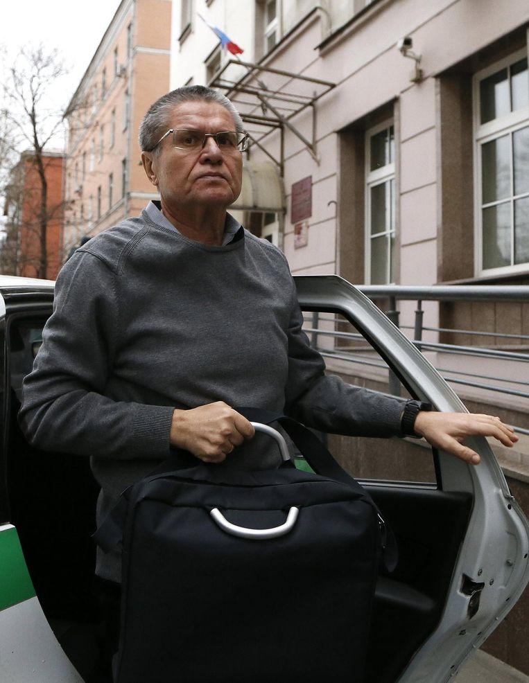 De voormalige Russische minister van Economische Ontwikkeling Aleksej Oeljoekaj. Beeld EPA