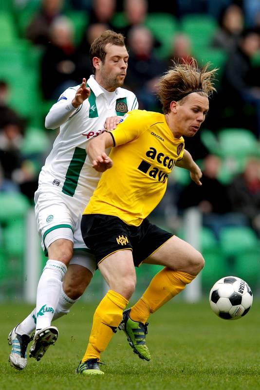 Nicklas Pedersen in actie namens FC Groningen.