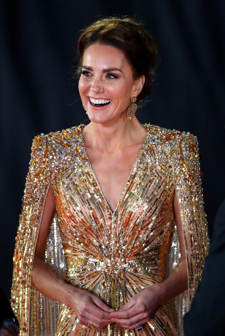 Kate Middleton bij de James Bond-première 'No time to die'. Beeld Getty Images