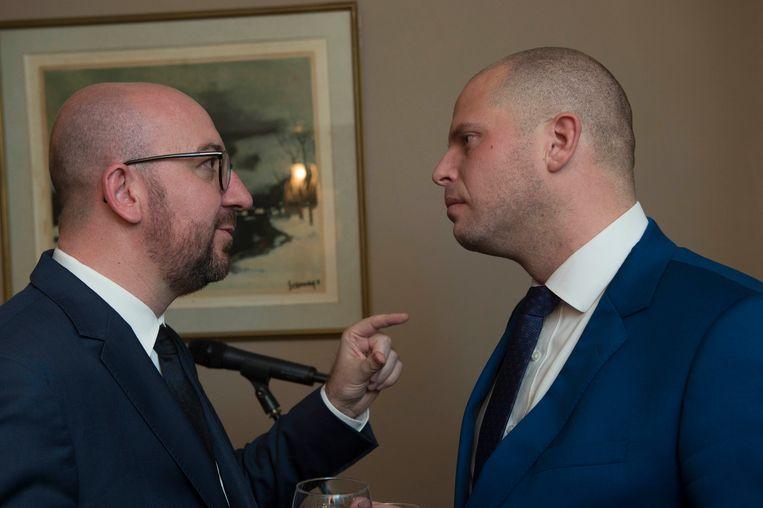Premier Charles Michel en staatssecretaris Theo Francken (archieffoto).