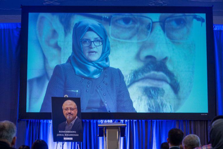 Een van de bevindingen van het mediaconsortium dat het onderzoek heeft verricht, is dat de spyware werd gebruikt om in te breken in de smartphone van de verloofde van de vermoorde Saoedische columnist Jamal Khashoggi. Beeld Getty Images
