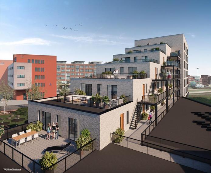 De bouw van De Kampanje, het nieuwbouwplan op de Kop van de Noordstraat, met 26 appartementen, bibliotheek en horecaruimte, begint eind maart.