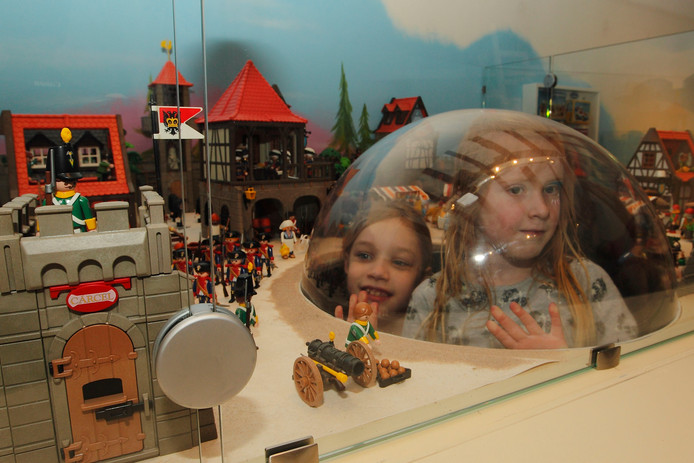De playmobile expositie in 2012 in het Deventer speelgoedmuseum.