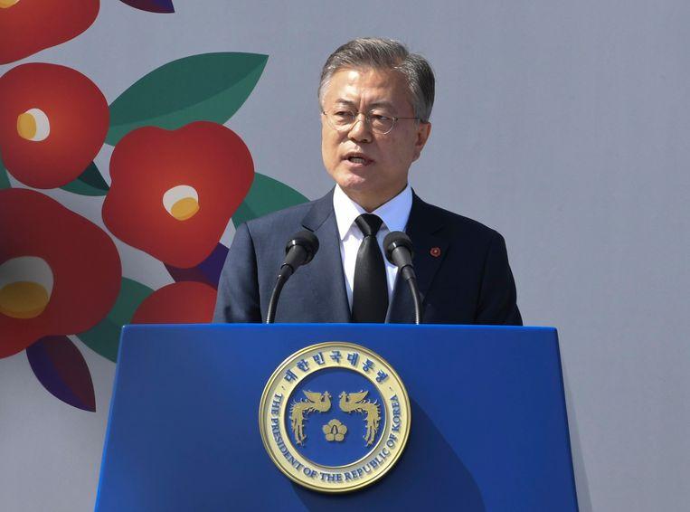 De Zuid-Koreaans president Moon Jae-in.