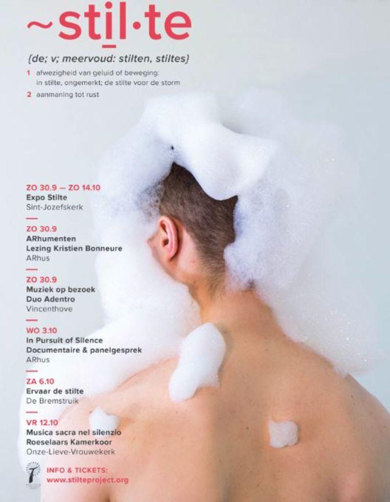 De Cultuurtrofee is uitgereikt aan ~stil.te. Dit was de affiche van de veertiendaagse.