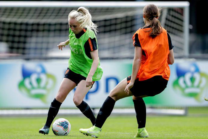 Inessa Kaagman in actie op de training.