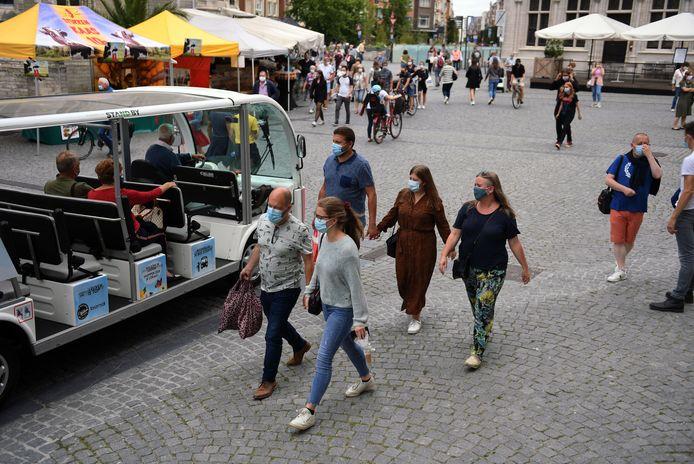 De mondmaskerplicht in hartje Leuven was de voorbije weken geregeld voorwerp van discussie.