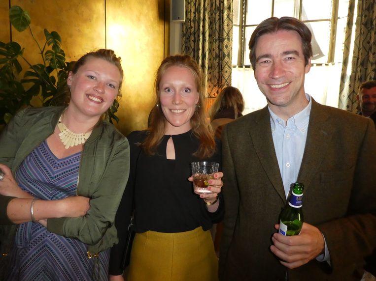Team Prometheus. Romy van den Nieuwenhof (marketing), redacteur Anna Jansen en hoofdredacteur Job Lisman: