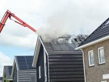 Dakbrand bij vrijstaande woning in Zwolle