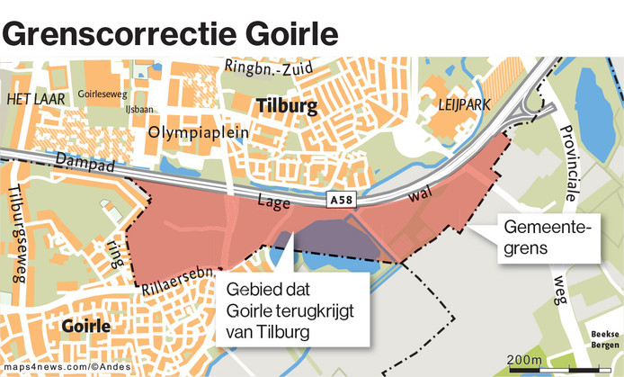 Grenscorrectie Tilburg Goirle